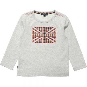 AQUASCUTUM JUNIOR Boys Grey Union Jack T-Shirt
