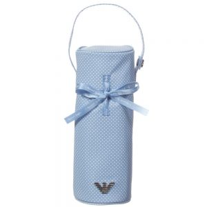 ARMANI BABY Baby Boys Blue Spotty Bottle Holder (23cm)