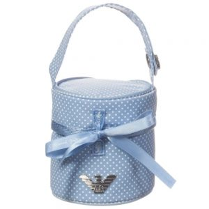 ARMANI BABY Baby Boys Blue Spotty Dummy Bag (8cm)