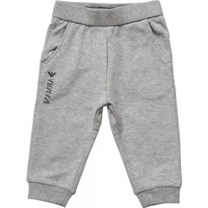 ARMANI BABY Baby Boys Grey Cotton Jersey Trousers