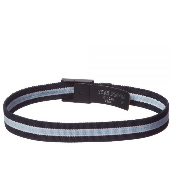 ARMANI BABY Baby Boys Navy Blue Elasticated Belt 1