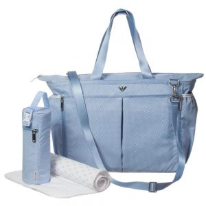 ARMANI BABY Pale Blue Spotty Baby Changing Bag (39cm)