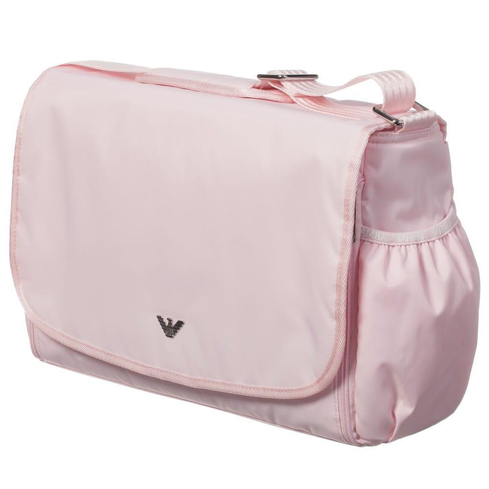 Armani Baby Pale Pink Baby Changing Bag 35cm Children