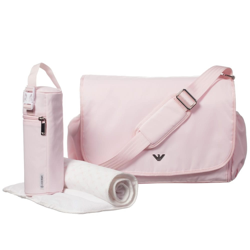 0aa46e2adf8d ARMANI BABY Pale Pink Baby Changing Bag (35cm) - Children Boutique