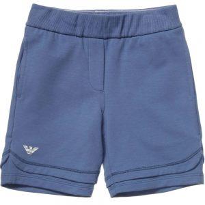 ARMANI JUNIOR Boys Blue Cotton Jersey Shorts