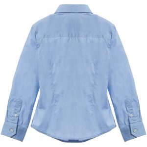 ARMANI JUNIOR Boys Classic Blue Cotton Shirt 1