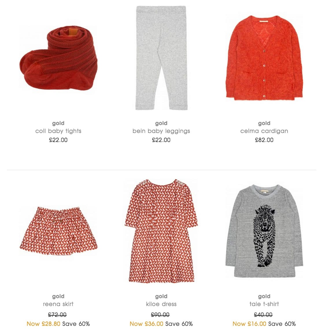 Kids Designers Clothes by Gold