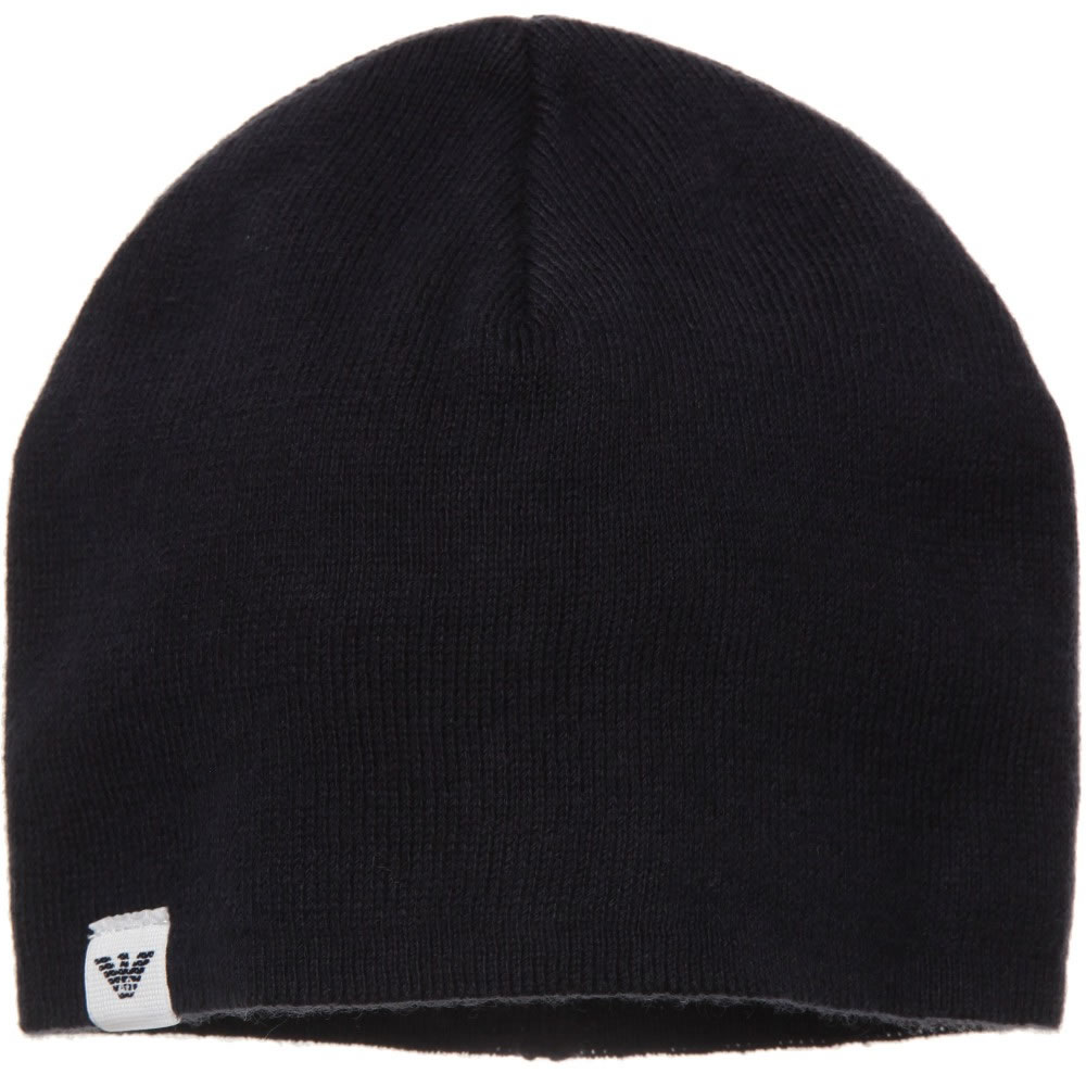 1e01f37a48d ARMANI BABY Baby Boys Navy Blue Knitted Hat - Children Boutique