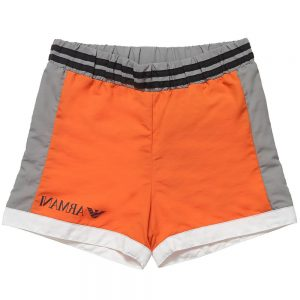 ARMANI BABY Baby Boys Orange Swim Shorts