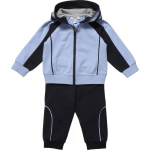 ARMANI BABY Baby Boys Pale & Navy Blue Tracksuit