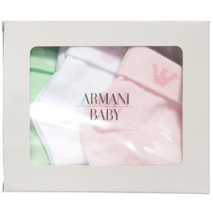 ARMANI BABY Baby Girls Cotton Socks (3 Pairs) 1