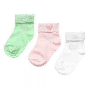 ARMANI BABY Baby Girls Cotton Socks (3 Pairs)