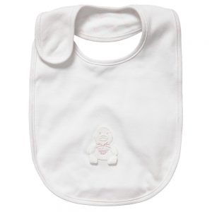 ARMANI BABY Baby Girls Ivory & Pink Bibs (Pack of 3) 1