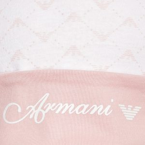ARMANI BABY Baby Girls Pink Cotton Jersey Hat 1