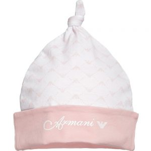 ARMANI-BABY-Baby-Girls-Pink-Cotton-Jersey-Hat