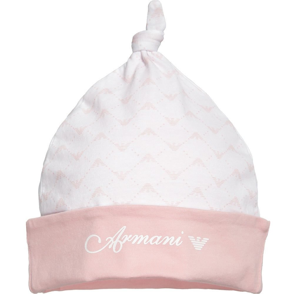 776695aaa ARMANI BABY Baby Girls Pink Cotton Jersey Hat
