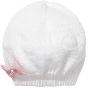 ARMANI BABY Baby Girls White Knitted Hat