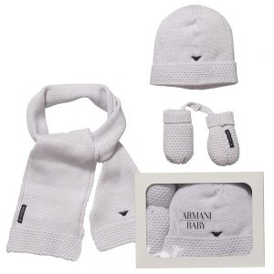 ARMANI-BABY-Baby-Grey-Hat-Mittens-Scarf