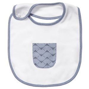 ARMANI BABY Baby White Cotton Bib