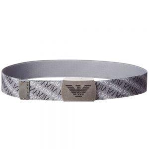 ARMANI BABY Boys Grey Elasticated Belt