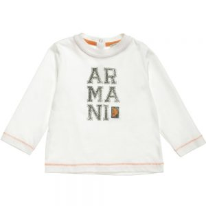 ARMANI-BABY-Boys-Off-White-Cotton-T-Shirt