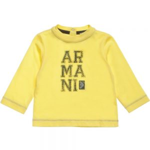 ARMANI-BABY-Boys-Yellow-Cotton-T-Shirt
