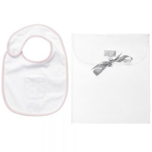 ARMANI BABY Girls Pink Cotton Bib