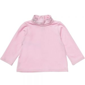 ARMANI BABY Girls Pink Jersey Roll Neck Top
