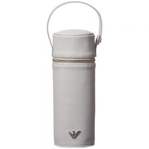 ARMANI BABY Grey Leather Bottle Holder (24cm)