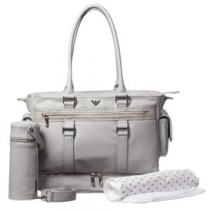ARMANI BABY Grey Studded Baby Bag (42cm)