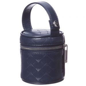 ARMANI BABY Leather Look Logo Dummy Holder (9cm)