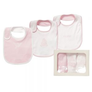 ARMANI BABY Pack of 3 Bibs In a Gift Box