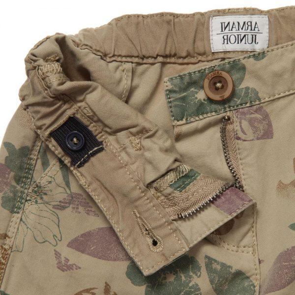 ARMANI JUNIOR Boys Beige Cargo Shorts 2