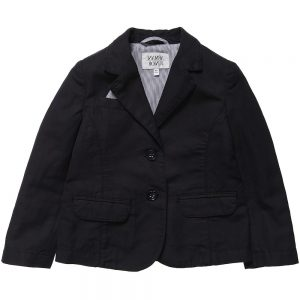ARMANI JUNIOR Boys Navy Blue Cotton and Linen Blazer