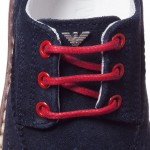 ARMANI JUNIOR Boys Navy Blue Suede Leather Shoes 2