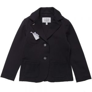 ARMANI JUNIOR Boys Navy Blue Viscose Blazer