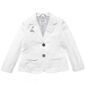 ARMANI JUNIOR Boys White Cotton and Linen Blazer