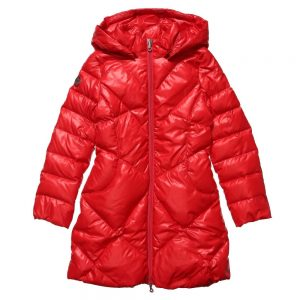 ARMANI JUNIOR Girls Red Down Padded Coat