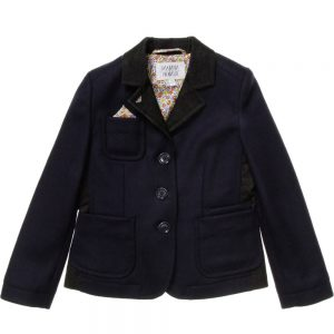 ARMANI JUNIOR Navy Blue Blazer Jacket with Handkerchief