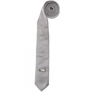 ARMANI TEEN Boys Grey Silk Tie