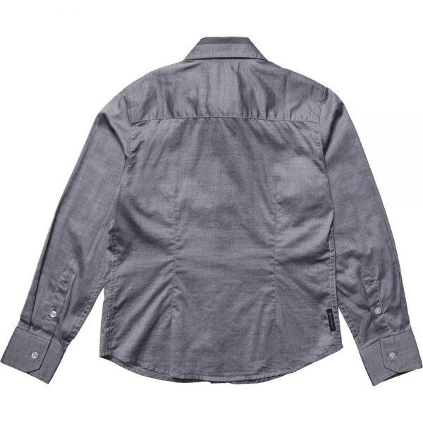 ARMANI TEEN Boys Grey Slim Fit Shirt 1