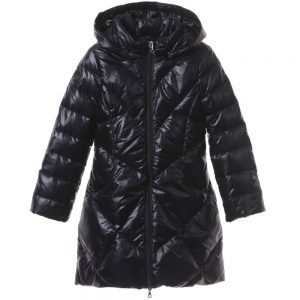 ARMANI TEEN Girls Navy Blue Down Padded Coat