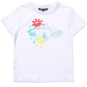 ASTON MARTIN Baby Boys White Paint Splat T-Shirt