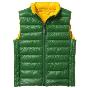 ASTON MARTIN Boys Green Lightweight Down Padded Gilet