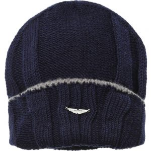 ASTON MARTIN Navy Blue Hat & Scarf Set 1
