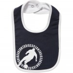 BIKKEMBERGS Boys Blue Cotton Jersey Bib