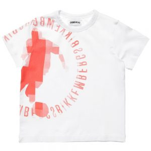 BIKKEMBERGS Boys White Cotton Jersey T-Shirt