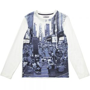 BIKKEMBERGS Boys White Cotton Top