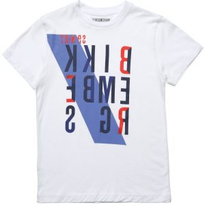 BIKKEMBERGS White Cotton Logo T-Shirt