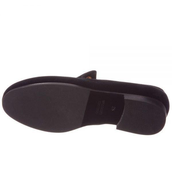 BILLIONAIRE Boys Black Velvet Loafers 2